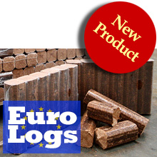 Euro Logs sawdust briquettes from Burn'em Woods - buy online